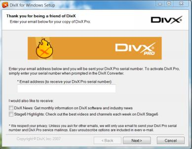 DivX Pro does not appear to be available anymore. The product that is
