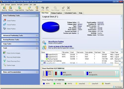 Free Paragon Hard Drive Manager 8.0 Special Edition