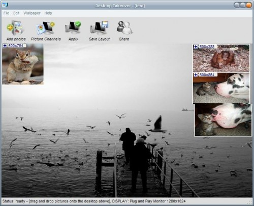 Clicking the Desktop Wallpaper