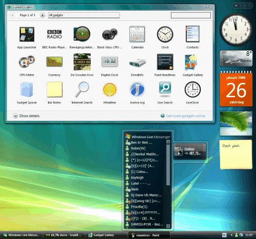 Sidebar in Windows XP. First there is Alky For Applications which can