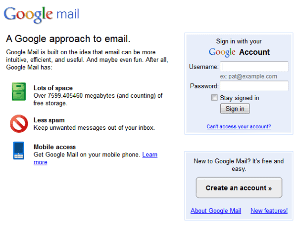 Gmail Login Page Google Mail Sign In – Today's Update
