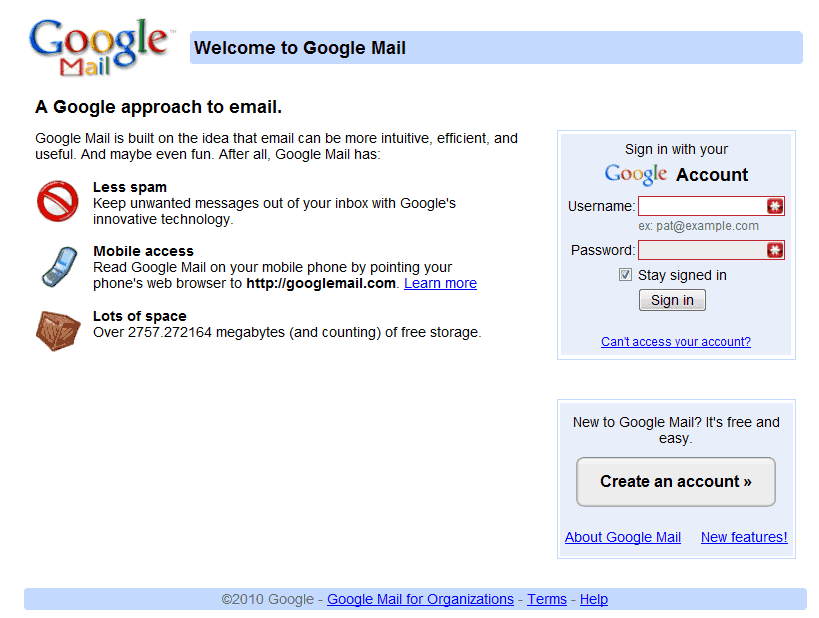 gmail member login