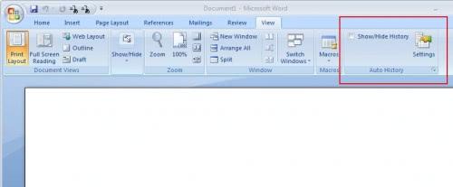 Microsoft office word 2007 autohistory ghacks tech news for Bureau word origin