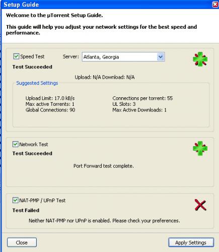 utorrent test