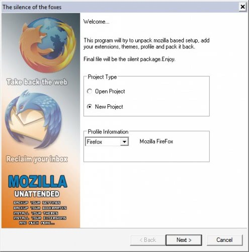 firefox custom installation