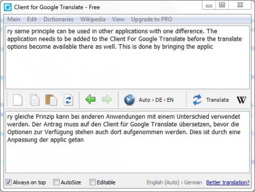 google translater. client google translate