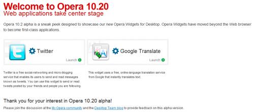 opera widgets for desktop