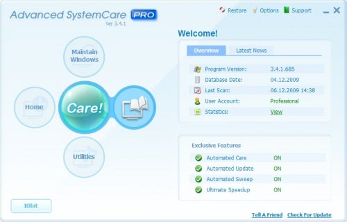 ������� ���� ���� �������� Advanced SystemCare PRO