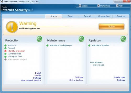 panda internet security 2010