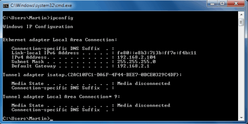 How to find my ip address win8