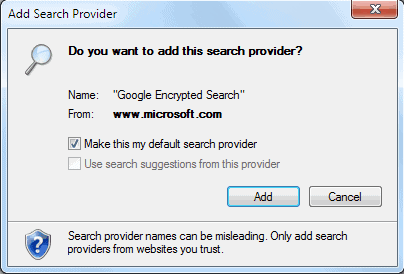 how to add google search engine to internet explorer 9