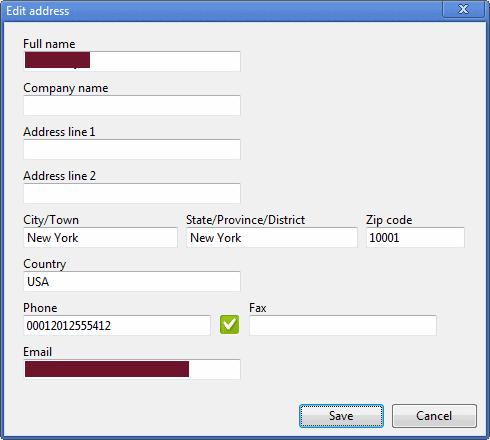 edit address chrome