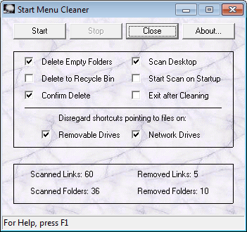 start menu cleaner