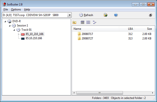 how to use isobuster to recover data