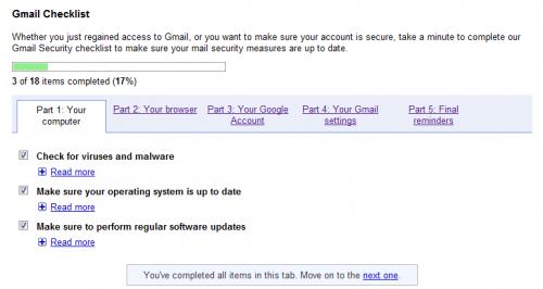 gmail checklist