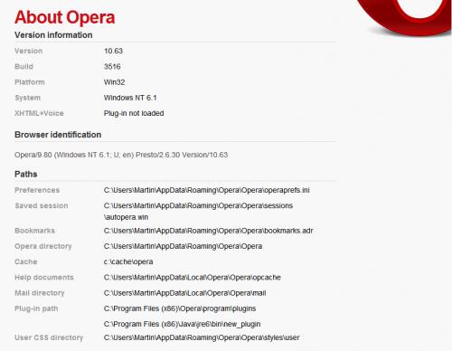 opera cache directory