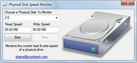 physical disk speed monitor