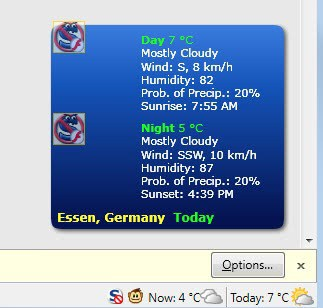 weather conditions firefox
