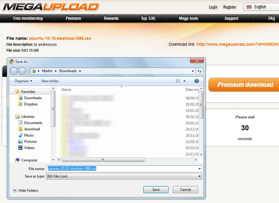 Megaupload Instant Download Helper [Google Chrome]