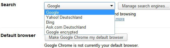 how to get rid of search engine google chrome