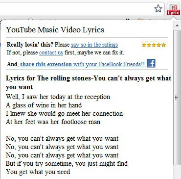 youtube music video lyrics