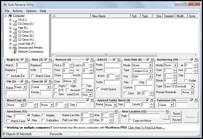 Bulk Rename Utility, File Renaming Software - gHacks Tech News