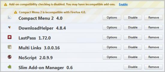 firefox slim add-on manager