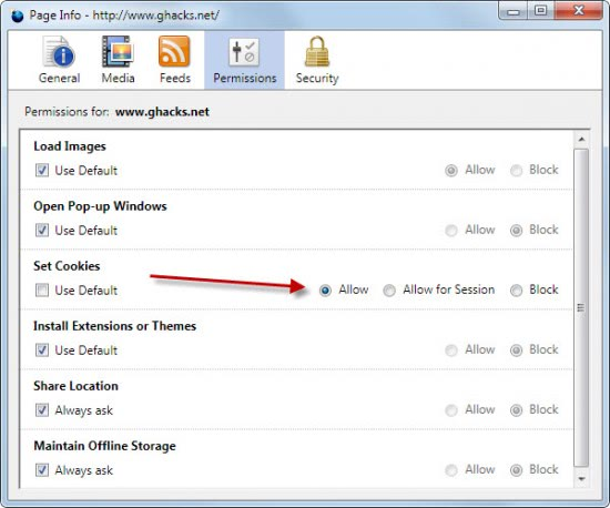 how to delete cookies for a specific website