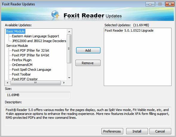 update pdf reader