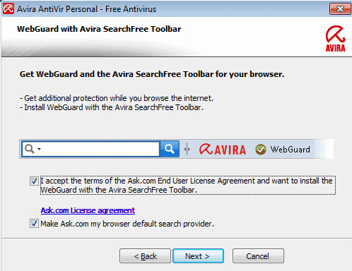 avira searchfree toolbar