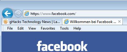 internet explorer url bar