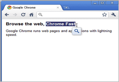 google chrome search by highlighting