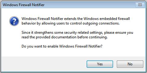 windows firewall notifier installation
