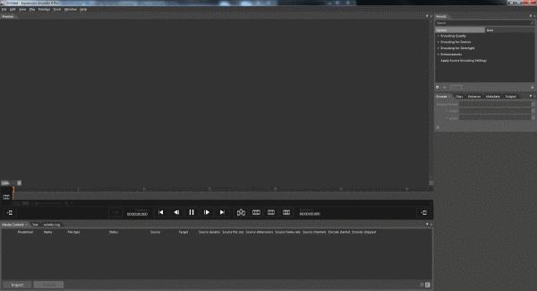Microsoft Expression Encoder Screenshot