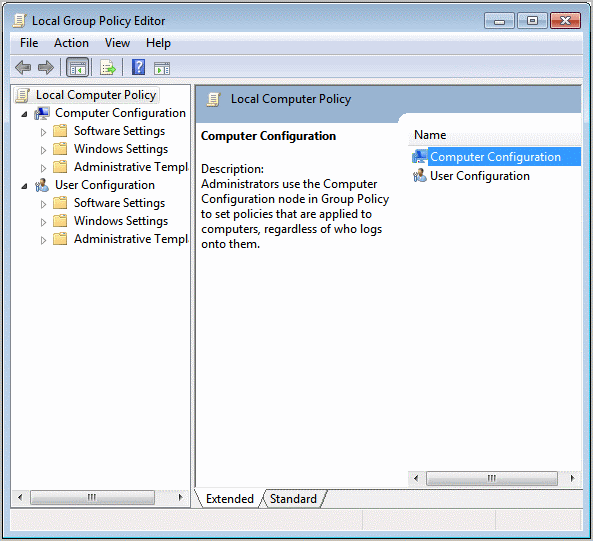 group policy editor windows 7