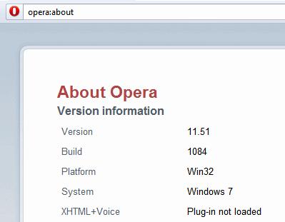 تنزيل اصدار المتصفح الشهير والاسرع والاخف Opera 11.51