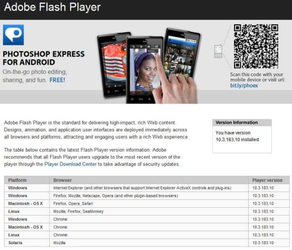 Adobe Flash Player 10.1.82.76