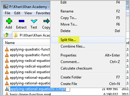 split-file