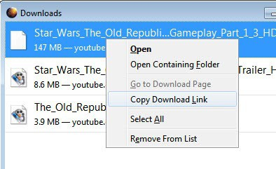 firefox remove from download list