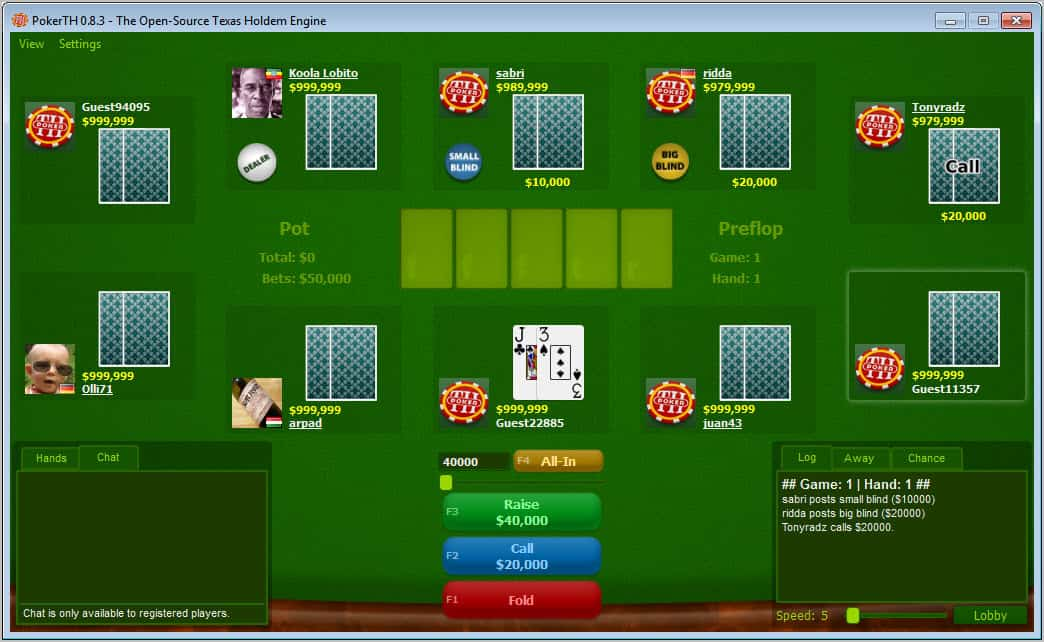 Free Flash Poker Game - Instructions