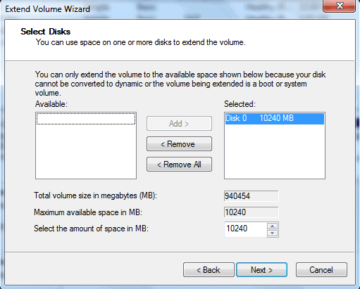 extend hard drive