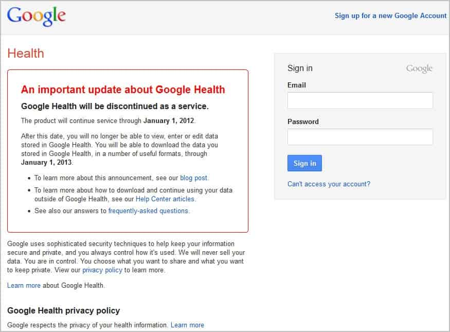 Google Health Retired, How To Export Your Data