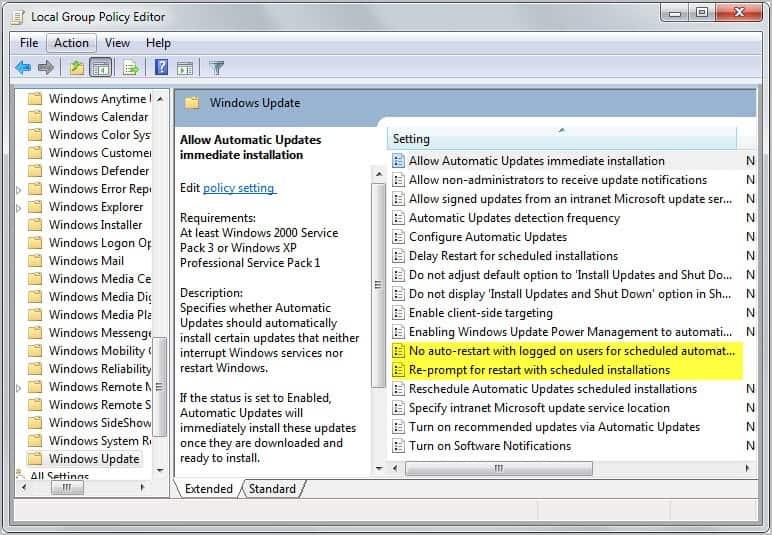 automatic server updates wsus pdf