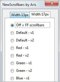 new scrollbar firefox