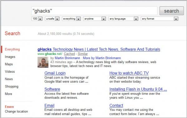 nocrap google search