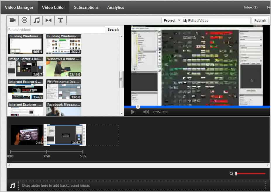 a youtube video editor