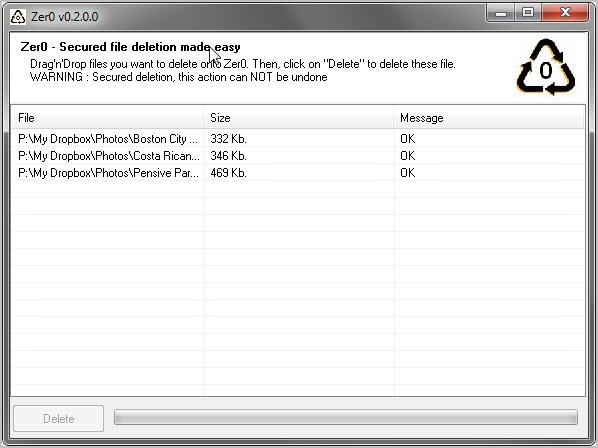 zer0 delete files permanently