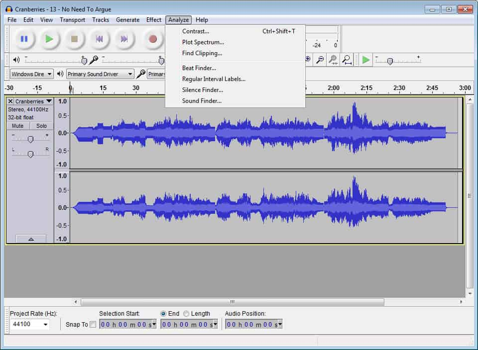 Audacity - Mengedit audio
