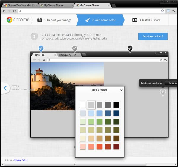 how to create thumbnail in chrome