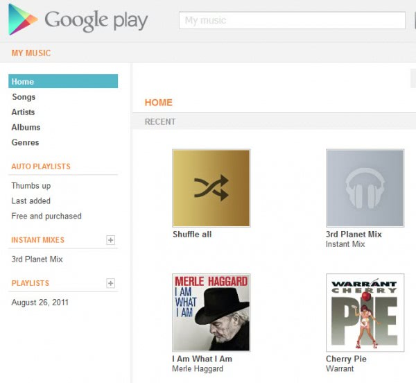 google play my music